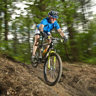 Man mountainbike